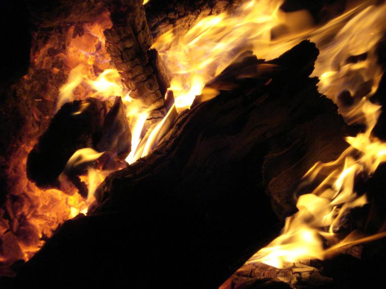 Free Stock Photo of Flames from Burning Wood Created by Ali Haider