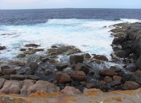 Rocks and surf - Free Stock Photo