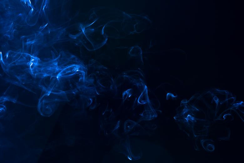 Free Stock Photo of Abstract Blue Smoke Created by Bjorgvin