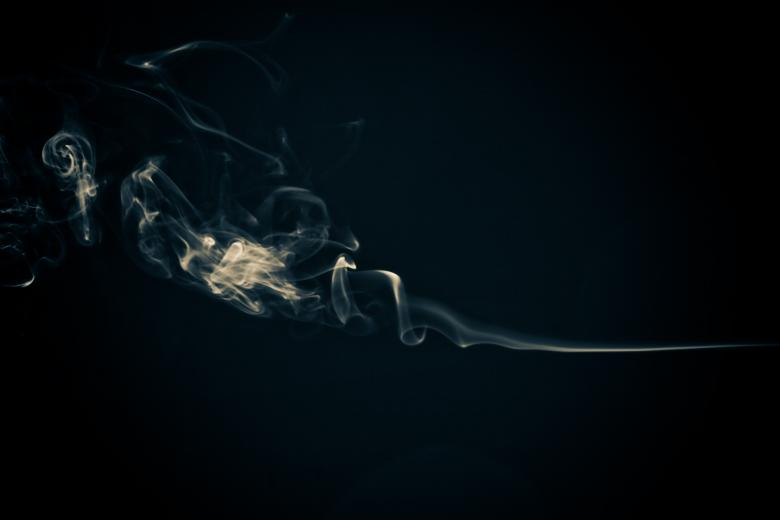 Free Stock Photo of Abstract Smoke Swirl on Black Created by Bjorgvin