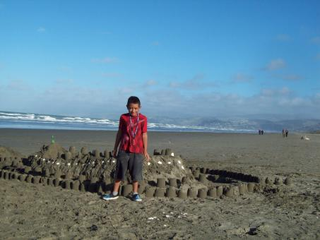Master Toa and his Sand Castle at New Br - Free Stock Photo