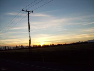 Dusk - canterbury Plains and hills Free Photo