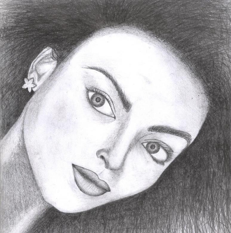 Free Stock Photo of Aishwarya Rai Sketch Created by Bilal Aslam
