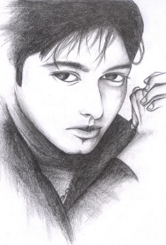 Free Stock Photo of Male Model Sketch Created by Bilal Aslam