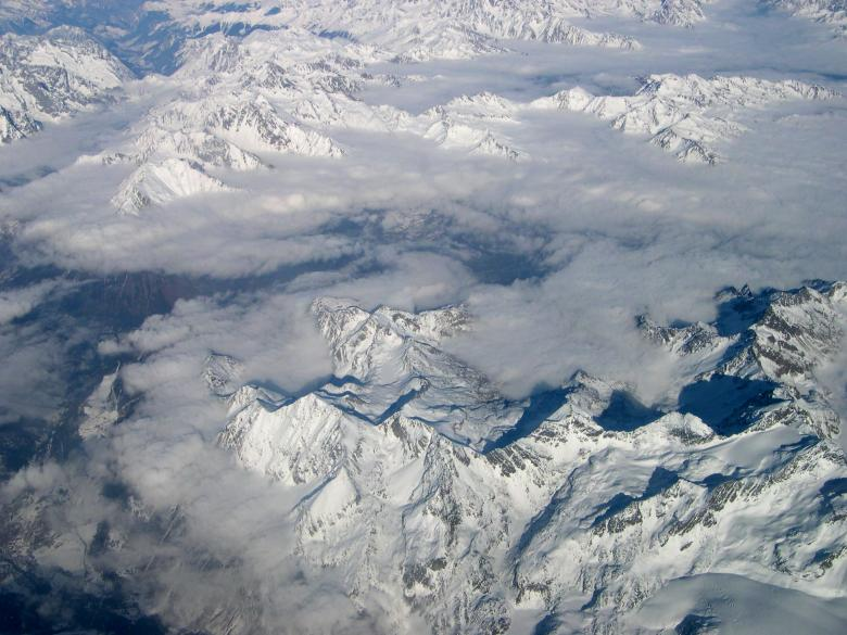 Mountains seen from plane Free Photo