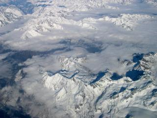 Download Mountains seen from plane Free Photo