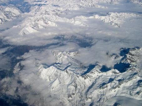 Mountains seen from plane - Free Stock Photo