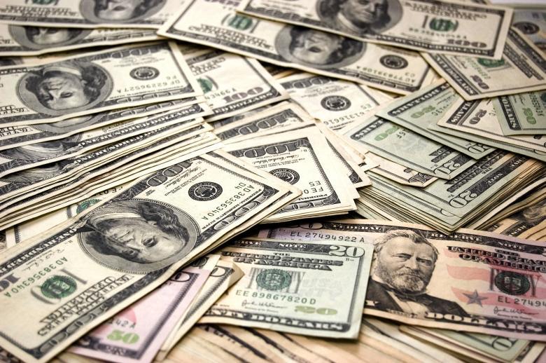 Free Stock Photo of Money - Pile of Dollar Bills