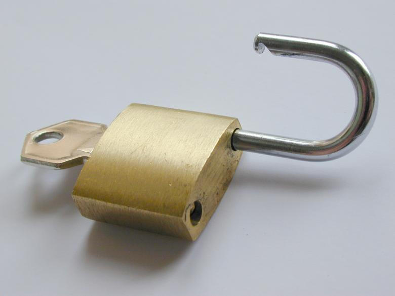 Free Stock Photo of Open Padlock Created by freeimageslive