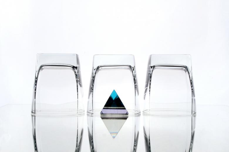 Free Stock Photo of Three glasses and a pyramid Created by Photomaryke