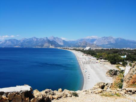 One of the great beaches of Antalya - Free Stock Photo