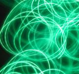 Free Photo - Green swirls light