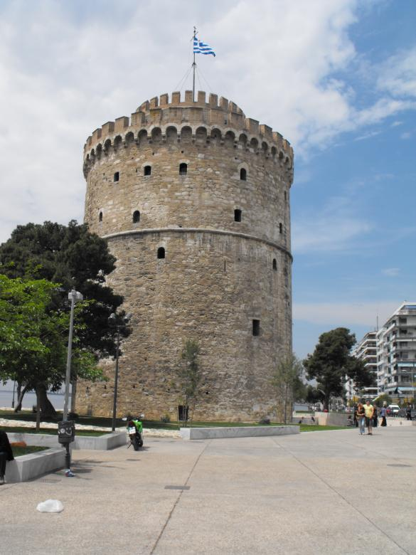 Free Stock Photo of White tower in Salonica Created by Yuliy Ganev
