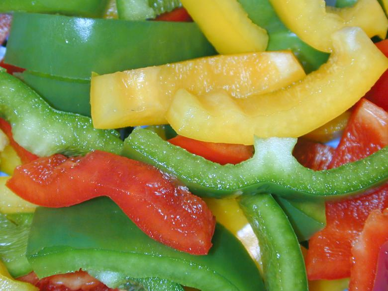 Free Stock Photo of Sliced peppers Created by freeimageslive