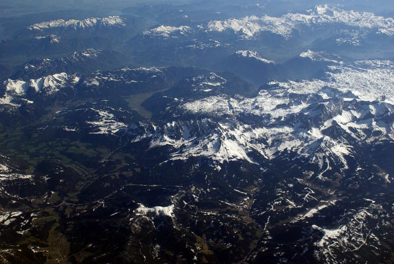 Free Stock Photo of Alps from Above Created by Hristo Hristov