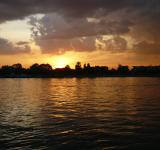 Free Photo - Sunset on the river Sava, Belgrade