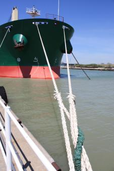 Moored tanker - Free Stock Photo