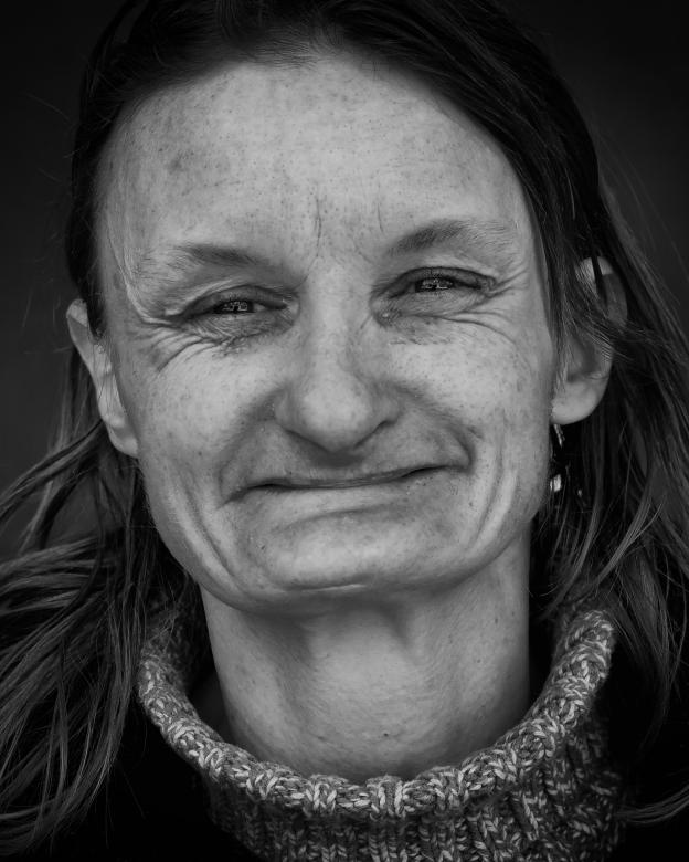 Free Stock Photo of Homeless Woman Portrait Created by Leroy Allen Skalstad
