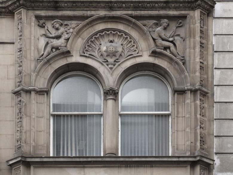 High relief Ornamental Window Free Photo
