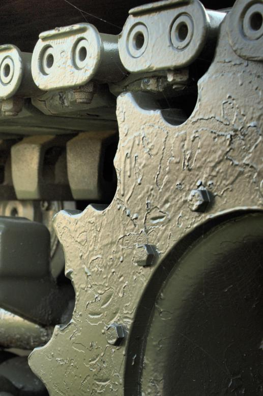 Free Stock Photo of Army Tank Sprocket Created by Tony Ryta