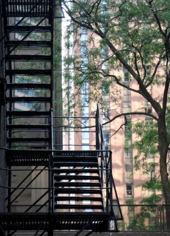 Free Stock Photo of Chicago Fire Escape Created by Brenda K. Gottsabend