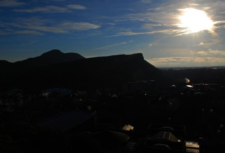 Free Stock Photo of Arthurs Seat Silhouette Created by Murray Douglas