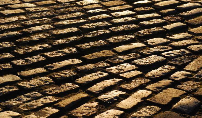 Free Stock Photo of Yellow Cobblestones Created by Muzz