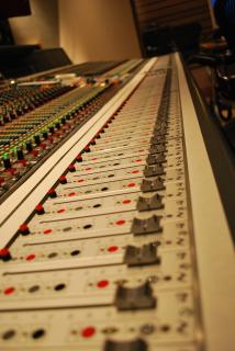 Recording studio mixer Free Photo