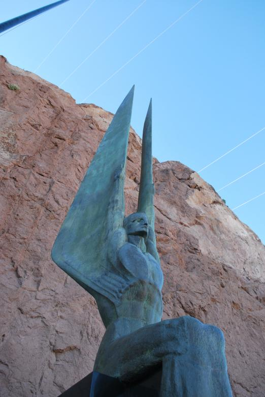 Free Stock Photo of Statue at Hoover dam dedication Created by James Beattie