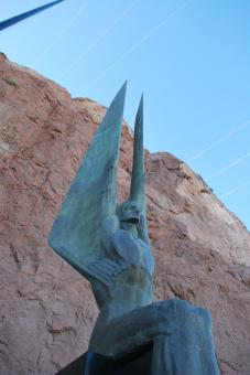 Statue at Hoover dam dedication - Free Stock Photo