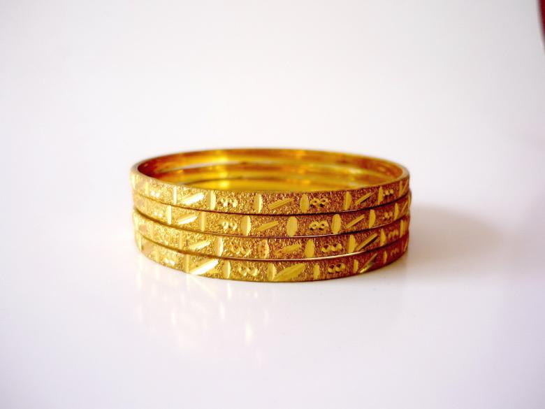 Free Stock Photo of Gold Bangles Created by Bilal Aslam