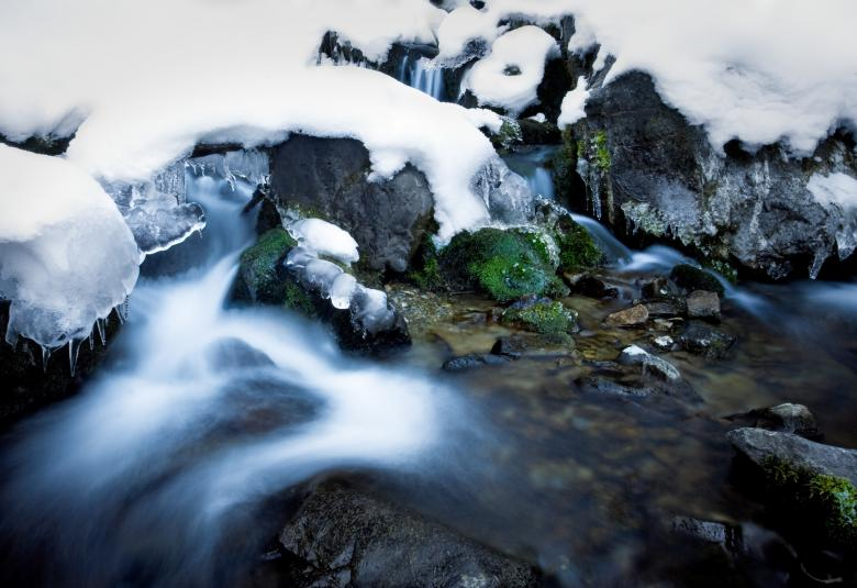 Free Stock Photo of Frozen River Created by James Stewart