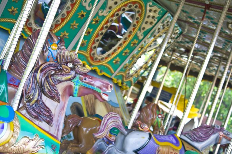 Free Stock Photo of Carousel Theme Park Created by linno1234