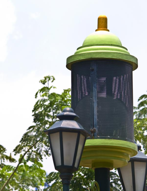 Free Stock Photo of Green Garden Lamp Created by linno1234