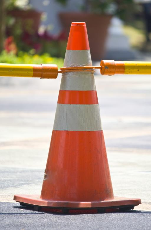 Free Stock Photo of Singgle Traffic Cone Created by linno1234