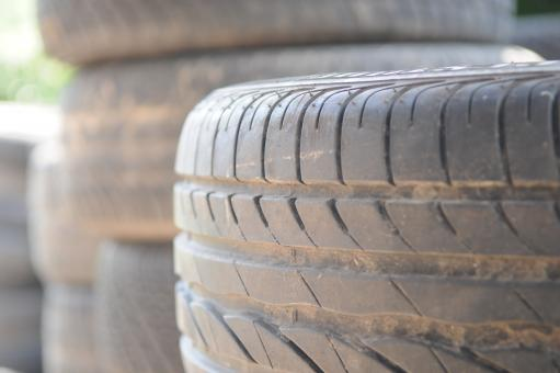 Stack of tires - Free Stock Photo