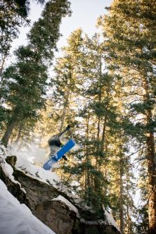 Backcountry Snowboard Air - Free Stock Photo
