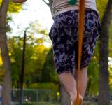 Free Photo - Male Walking Slackline