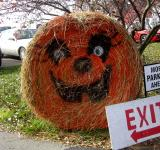 Free Photo - Jack O Lantern Hay Bail