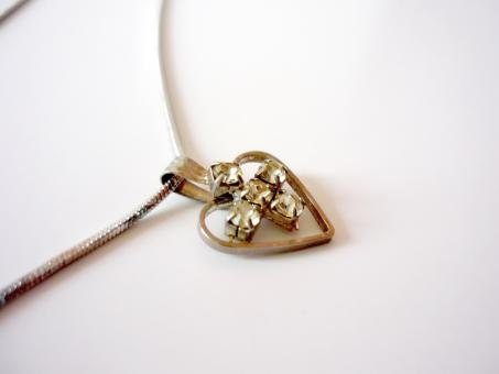 Heart shaped necklace - Free Stock Photo