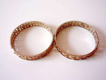Two Gold Bangles - Free Stock Photo