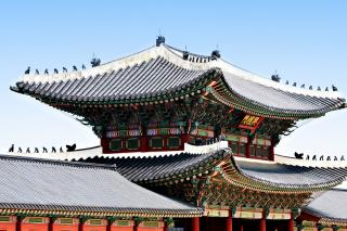 Download Korean Roof Top Free Photo