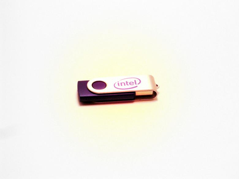 Free Stock Photo of Intel USB Drive Created by Brian