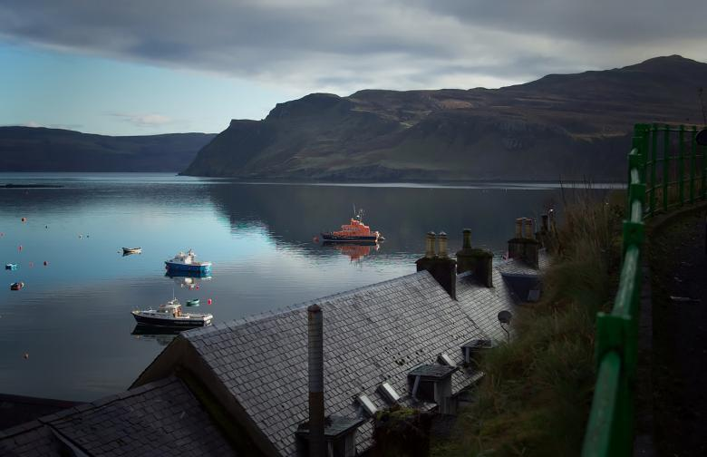 Free Stock Photo of Portree Harbour Isle of Skye - Early Mor Created by Tom Fox