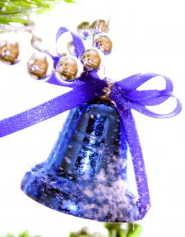 Blue Christmas Bell - Free Stock Photo