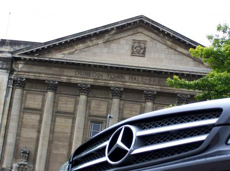 Mercedes CLS 350 at Dunedin Town Hall - Free Stock Photo