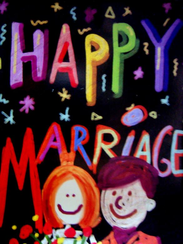 Happy mariage Card Free Photo