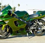 Free Photo - Shiny Green Motorcycle