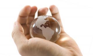globe in hand image