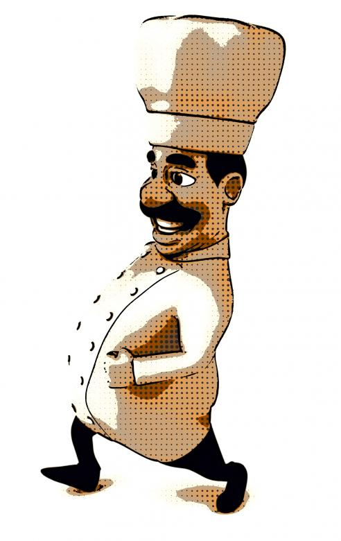 Free Stock Photo of Chef Cartoon Created by Julien Tromeur